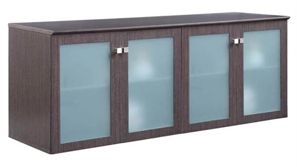 "Storage Cabinets Forward Furniture 72""W x 24""D Low Wall Storage Cabinet with Glass Doors"