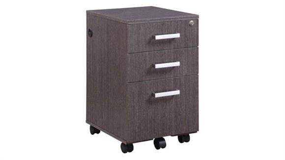 Mobile File Cabinets Forward Furniture Mobile Box/Box/File Pedestal with Power in Top Drawer