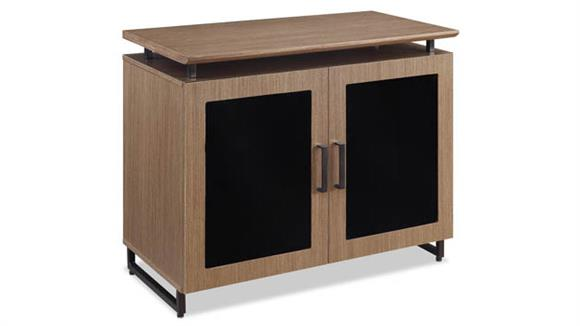 "Storage Cabinets Forward Furniture 36""W x 20""D Low Wall Storage Cabinet with Glass Doors"