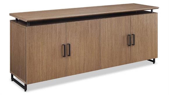 """Storage Cabinets Forward Furniture 72""""W x 20""""D Low Wall Storage Cabinet with Wood Doors"""