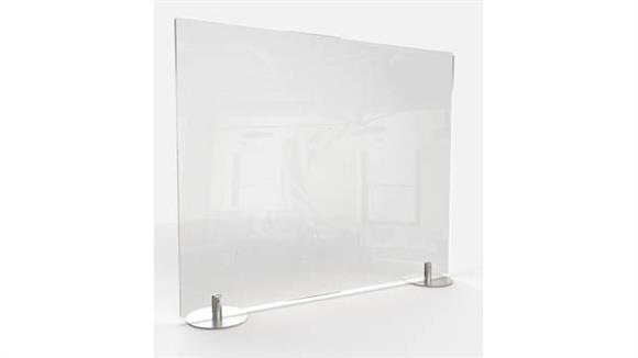 "Covid19 Office Sneeze Guards Ghent 24""H x 29""W Desktop Free Standing Clear Plastic Protection Screen"