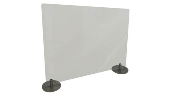 "Covid19 Office Sneeze Guards Ghent 24""H x 29""W Desktop Free Standing Frosted Plastic Protection Screen"