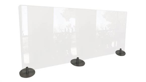 "Covid19 Office Sneeze Guards Ghent 24""H x 59""W Desktop Free Standing Clear Plastic Protection Screen"