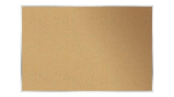 "Bulletin & Display Boards Ghent 18"" x 24"" Aluminum Frame Natural Cork Tackboard"