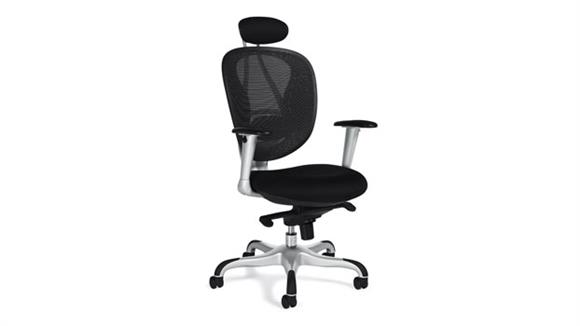 Office Chairs Offices to Go Mesh Executive Chair with Headrest
