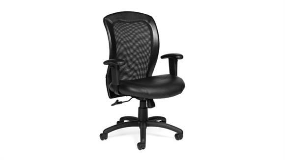 Office Chairs Offices to Go Adjustable Mesh Back Ergonomic Chair
