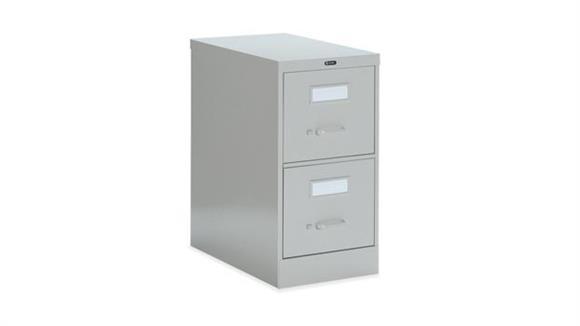 """File Cabinets Vertical Global 2 Drawer Letter Size Vertical File - 25""""D"""