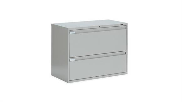 """File Cabinets Lateral Global 36""""W Two Drawer Lateral File"""