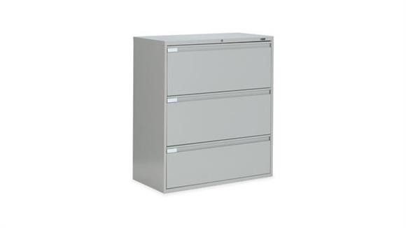 """File Cabinets Lateral Global 36""""W Three Drawer Lateral File"""