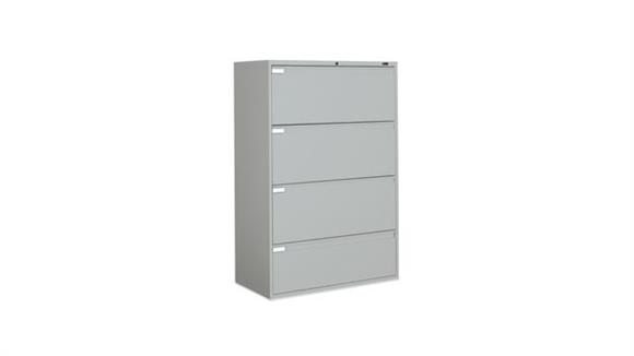 "File Cabinets Lateral Global 36""W Four Drawer Lateral File"