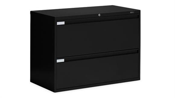"""File Cabinets Lateral Global 42""""W Two Drawer Lateral File"""