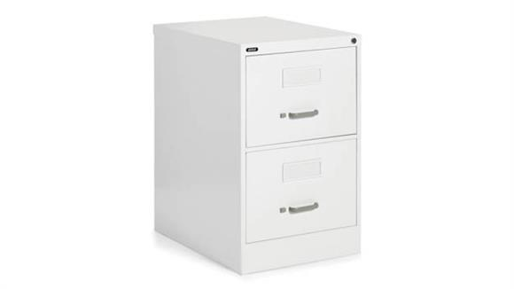 "File Cabinets Vertical Global 2 Drawer Legal Size Vertical File - 25""D"