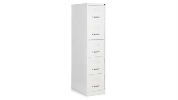 """File Cabinets Vertical Global 5 Drawer Letter Size Vertical File - 25""""D"""