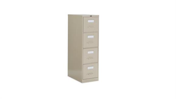 "File Cabinets Vertical Global 4 Drawer Letter Size Vertical File - 25""D"