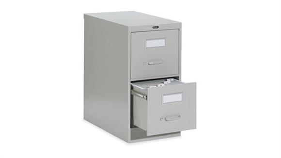 "File Cabinets Vertical Global 2 Drawer Legal Size Vertical File - 26-1/2""D"