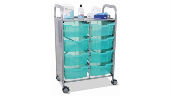 Covid19 Office Solutions Gratnells Double Sanitation and Personal Protective Equipment Distribution Cart