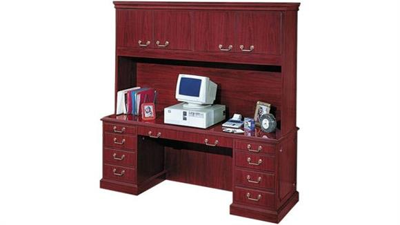"Office Credenzas High Point Furniture 72"" Computer Credenza with Hutch"