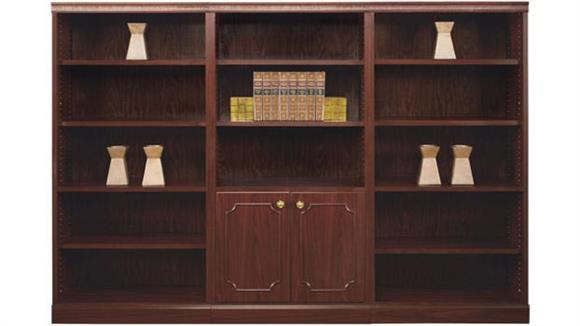Bookcases High Point Furniture Traditional Style Triple Wide Bookcase