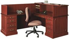 Reception Desks High Point Furniture Traditional L Shaped Reception Desk