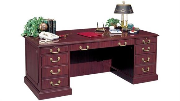 "Executive Desks High Point Furniture 72"" Double Pedestal Desk"