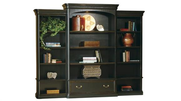 Bookcases Hekman Furniture Solid Wood Triple Wide Bookcase