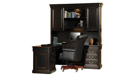 L Shaped Desks Hekman Furniture Solid Wood L Shaped Desk with Hutch