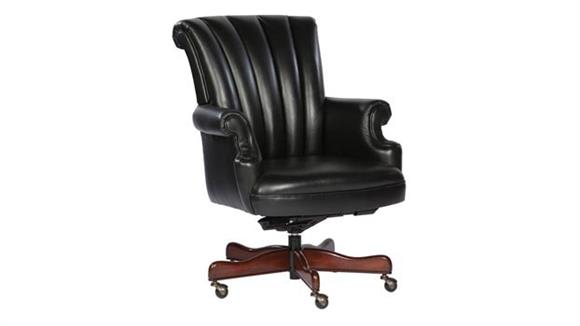 Office Chairs Hekman Furniture Leather Executive Tilt Swivel Chair
