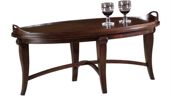 Coffee Tables Hekman Furniture Solid Wood Oval Tray Cocktail Table