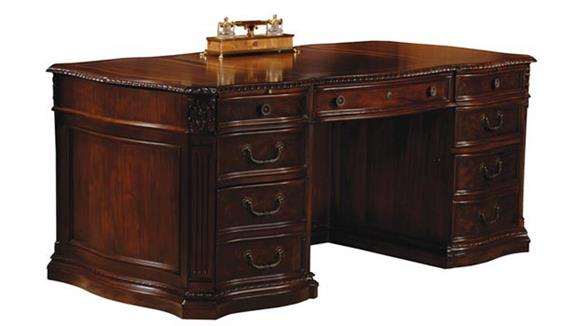 Solid Wood Executive Desk By Hekman Furniture
