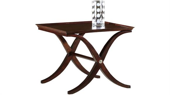 End Tables Hekman Furniture Solid Wood X Base Square Lamp Table