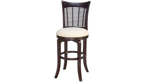 Counter Stools Hillsdale House Bayberry Wicker Swivel Counter Stool - Dark Cherry
