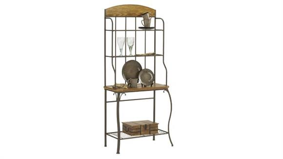 Bakers Racks Hillsdale House Lakeview Bakers Rack with Wood Panel Top
