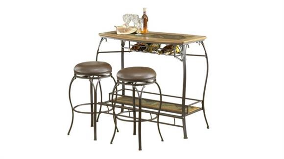 Home Bars Hillsdale House Lakeview Bar with 2 Backless Stools