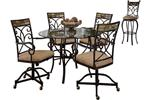 Dining Tables & Sets Hillsdale House Pompei 5 Piece Dining Set with Mobile Chairs