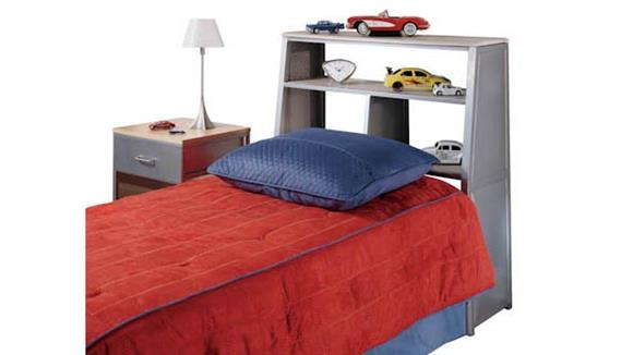 Twin Size Beds Hillsdale House Universal Youth Storage Platform Twin Bedset with Bookcase Headboard