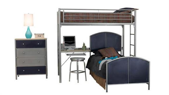 Bedroom Sets Hillsdale House Universal Youth Study Loft Bedroom Set