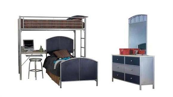 Bedroom Sets Hillsdale House Universal Youth Study Loft Bedroom Set by Hillsdale House