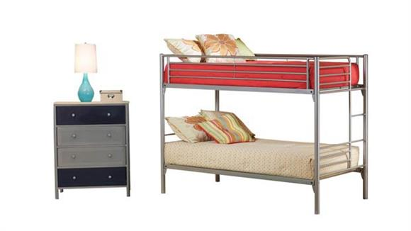 Bedroom Sets Hillsdale House Universal Youth Twin/Twin Bunk Bed and Chest