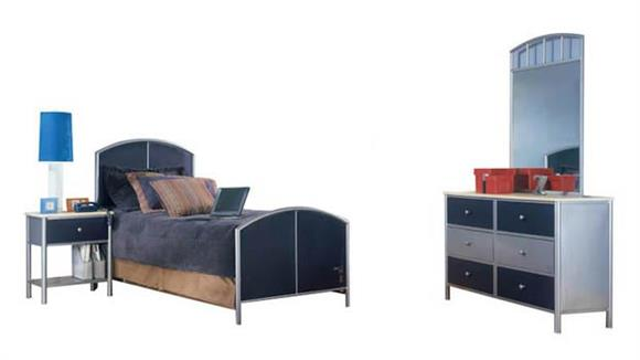 Bedroom Sets Hillsdale House Universal Youth 4 Piece Bedroom Set with Twin Sized Bed
