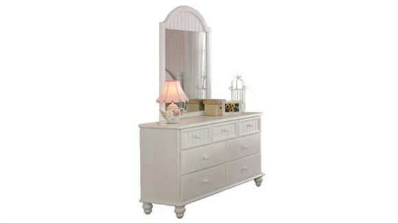 Dressers Hillsdale House Westfield 7 Drawer Dresser with Mirror