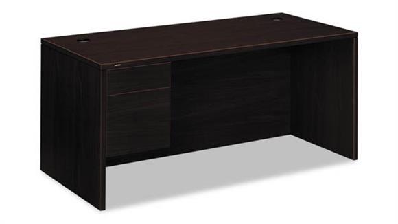 "Executive Desks HON 66""W x 30""D x 29-1/2""H Left 3/4-Height Pedestal Desk"