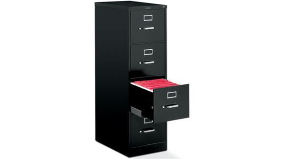 """File Cabinets Vertical HON 4 Drawer 25""""D Letter Size Vertical File"""