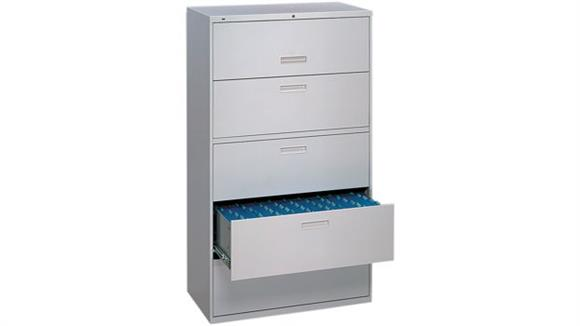 "File Cabinets Lateral HON 36""W 5 Drawer Lateral File"