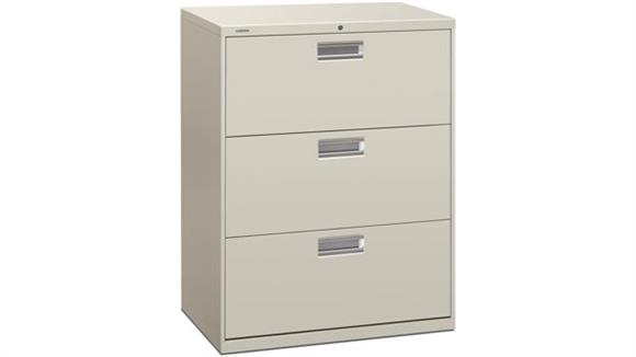 """File Cabinets Lateral HON 30""""W 3 Drawer Lateral File"""