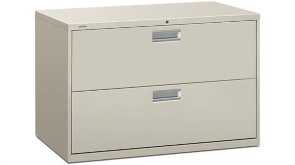 "File Cabinets Lateral HON 42""W 2 Drawer Lateral File"