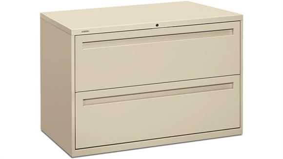 """File Cabinets Lateral HON 42""""W 2 Drawer Lateral File"""