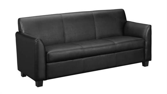 Sofas HON Leather Reception Three-Cushion Sofa