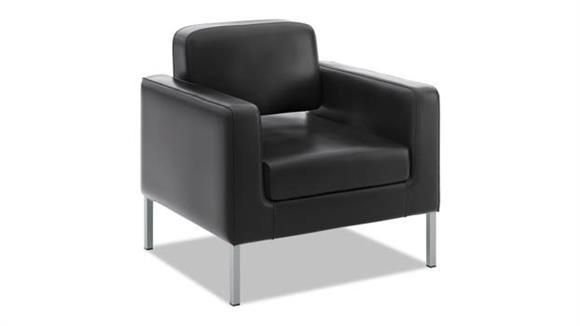 Club Chairs HON Leather Club Chair
