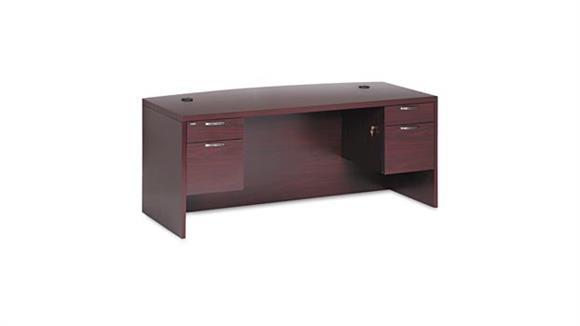 """Executive Desks HON 72"""" Bow Front Double Pedestal Desk"""