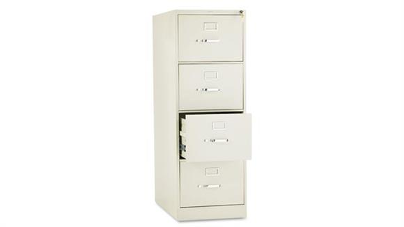 "File Cabinets Vertical HON 26-1/2""D Four-Drawer, Full-Suspension Legal File"